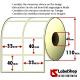 Rollo de 3000 etiquetas adhesivas termicas mm 33 x 40 2 Pistas núcleo 40