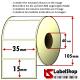 Thermo-Haftetiketten auf Rolle zu 3000 Stück, 35x15 mm, 1 Bahn, Innenkern 40