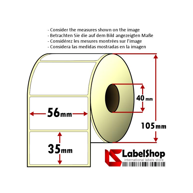 Rotolo Da 1000 Etichette Adesive Mm 100X50 Termiche 1 Pista Anima 40 DIMATICA