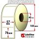 Thermo-Haftetiketten auf Rolle zu 700 Stück, 57x76 mm, 1 Bahn, Innenkern 40