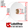 Satin tape roll for textile and Care labels