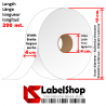 Polyester tape roll of textile labels, Care labels and jeans washing labels