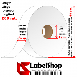 H30 Polyester resin tape for textile jeans labels subject to industrial washing and stone wash treatments