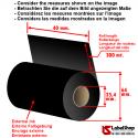 Rollo de cinta - ribbon indeleble textile H 40 mm x 300 m ink out.