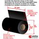 cinta de carbón - ribbon foil cera résinas transferencia térmica poliamida satén rollo