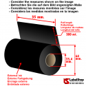 Rollo de cinta - ribbon indeleble textile H 35 mm x 300 m ink out.