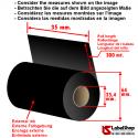 Ruban indeleble textile encrage exterieur 35mm x 300 m Ricoh D110AH .