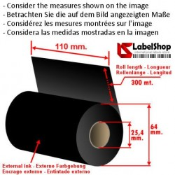 Ruban encrage exterieur 110 mm x m 300.