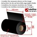 H 110 mm x 74 m. ink out WAX Ribbon - wax carbon graphic ribbon for thermal transfer printing (wax ribbon)