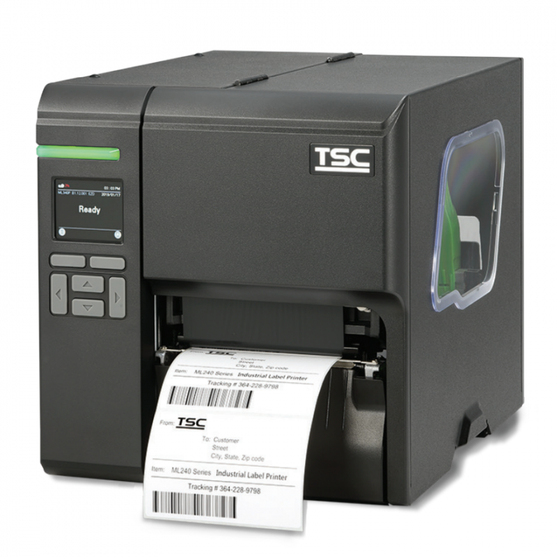 Barcode industrial printer for termal labels with ribbon